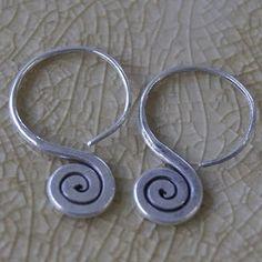 Brincos Tailandeses Prata 925 By Karen Design Padrão Espiral Prata 4b9f64645927