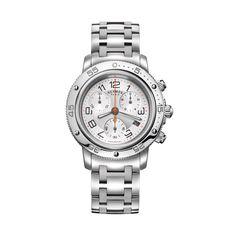 66feb50afc1 Hermes Clipper Diver s Chronograph with Steel Bracelet Rubber Bracelets