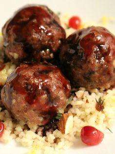 Mediterranean Lamb Meatballs with Pomegranate Glaze Recipe - JoyOfKosher.com