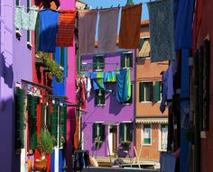 Burano colors, laundry