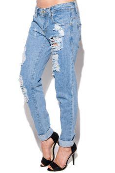 Ananda Distressed Boyfriend Jeans