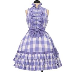 Worldwide shipping available ♪ Angelic Pretty| アンジェリックプリティ ☆ ·. . · ° ☆ ギンガムフリルノースリーブワンピース  https://www.wunderwelt.jp/products/w-17249  IOS application ☆ Alice Holic ☆ release Japanese: https://aliceholic.com/ English: http://en.aliceholic.com/