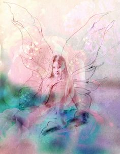 fairy drawing digitally altered