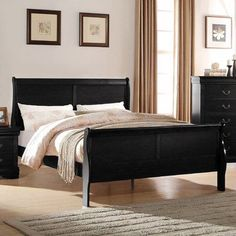 Antique Black Bedroom Furniture Impressive Heirloom Antique Black Queen Poster Bed  Black King And Products Design Ideas