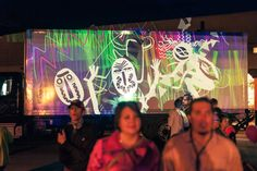 Maki performs a teaser session during the performance of KONGOS at the Taos Solar Music Festival to promote The Paseo event for the following night. New Mexico, Tao, Teaser, Graffiti, Solar, Around The Worlds, Neon Signs, Animation, Events
