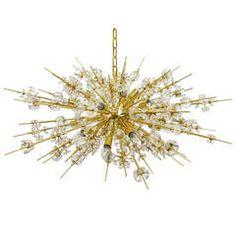 Impressive Bakalowits Miraculoso Gold-Plated Sputnik Chandelier, 1970s