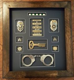 Made by Mike Johnson, correction officer shadow box