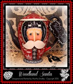 Apple Tree Cottage Original Design E Pattern - Woodland Santa