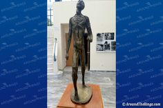 Spyros Louis, winner of the 1896 marathon race. The sculptor is Costas Valsamis and the piece was donated by the A. Olympic Games, Olympia, Athens, Marathon, Photo Galleries, Foundation, Sculptures, Racing, Island