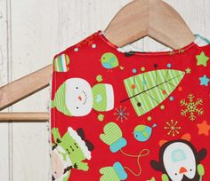 Winter Friends Bib - Christmas Bib via Etsy