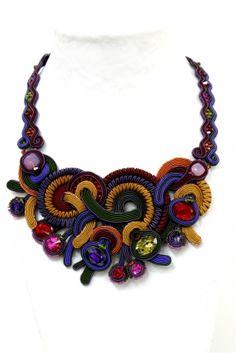 Elektra jewel tones bib necklace by Dori Csengeri. #DoriCsengeri #statement #necklace #bibnecklace