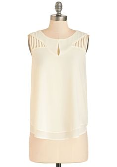 Vacation Coordinator Top. After all the research, booking, and travel, youre ready to sip a pina colada wearing this coconut-white top! #cream #modcloth