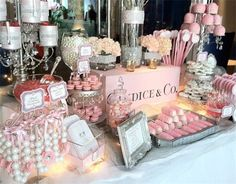 candy brigade | Tiffany PINK Candy Table: New York City