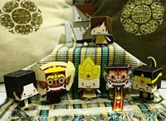 PAPERMAU: Indonesian Cultural Heritage Paper Toy Series - by Kobico