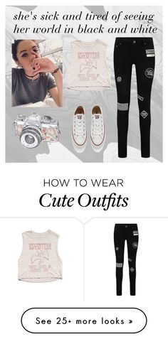 """""""Outfit #132   the everyday anthem"""" by madi463 on Polyvore featuring Forever 21, Converse, women's clothing, women's fashion, women, female, woman, misses and juniors"""
