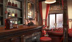 """Ресторан """"Жюль Верн"""" выполнен в стиле Стимпанк (паропанк)."""