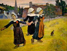 Paul Guaguin - Breton Girls Dancing, Pont-Aven, 1888