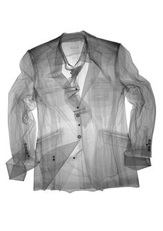 Noted British artist Nick Veasey reveals the inner life of familiar objects through X-ray photographs stunning in their simplicity. His exacting technical process results in pictures that illuminate interior structures in exacting detail. Shirt Jacket, Shirt Dress, Revival Clothing, Women's Clothing, Ivy Style, Underwear, Christopher Raeburn, Textiles, Oeuvre D'art