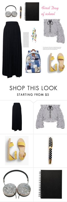 """First Day of School"" by hiba-ktari-1 ❤ liked on Polyvore featuring Chanel, Caroline Constas, Talbots, Kate Spade, Mira Mikati, Oris and Marc Jacobs"