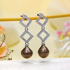 Chocolate Pearl Stud Earrings
