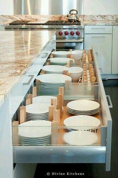 Dish storage in kitchen island! Must have!