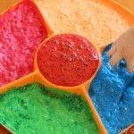 """Magic"" Scented Foaming Paint: tempura sprinkled with kool aid"
