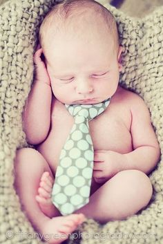 baby in a tie...too cute!!!