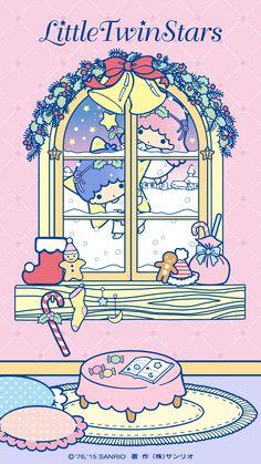 ★Wallpaper リトルツインスターズ メモリアルデザイン壁紙プレゼント(11)★ #LittleTwinStars #40thAnniversary