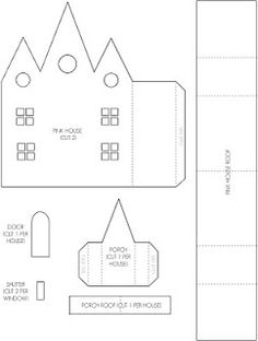 Mel Stampz: Wee Houses (124 links: templates, tutorials, etc.)- all for little houses