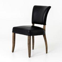 Constantine Dining Chair-Os Black/Weathered Oak   Memoky.com