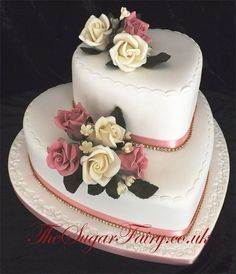 two tier heart shaped cakes - Google Search