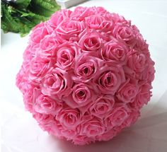 Rose Flower Pomander  Wedding Decoratin Ball Kissing Ball Muti-colors Multi-sizes (USA seller) by FeatherParadise on Etsy