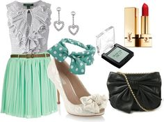 inspired by mint chocolate chip ice cream, created by samantha-94 on Polyvore