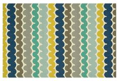 Covina Outdoor Rug, Teal/Multi | Auto Exposure Event | One Kings Lane