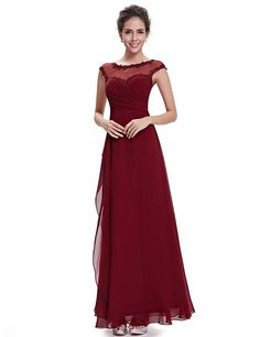 Ever Pretty Womens Illusion Neckline Military Ball Dress 16 US Burgundy at Amazon Women's Clothing store: