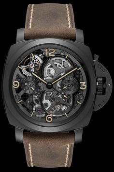 LO SCIENZIATO OFFICINE PANERAI Luminor 1950 Tourbillon GMT Ceramica 48mm (See more at: http://watchmobile7.com/articles/officine-panerai-luminor-1950-tourbillon-gmt-ceramica-48mm) (4/5) #watches #panerai #officinepanerai @Officine Fotografiche Roma Fotografiche Roma Panerai