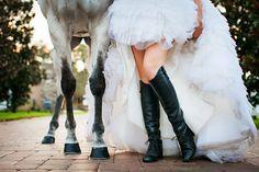 A great Equestrian shot! {fairy tale wedding, fairytale,white horse}