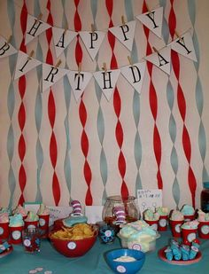 Dr. Seuss Party I threw for my mom :)