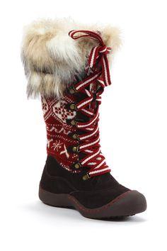 Gwen X Fairisle Faux Fur Fleece Snow Boot by MUK LUKS on @nordstrom_rack
