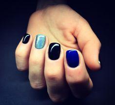 #Darknailsstyle #blacknails #silvernails #bluenails #nailart #nailsofinsta #instanails #nailsswag