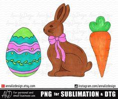 Watercolor PNG Easter Bunny Carrot trio Digital Download Clipart Vintage Watercolor Design PNG Artwork Digital File for printing