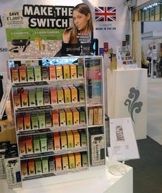 Diamond Mist large point of sale stand, packed full of e-liquid flavours. On display at Autumn Fair, NEC Birmingham 7th - 10th September 2014.