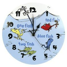 Dr. Seuss One Fish Two Fish Clock : Target Mobile