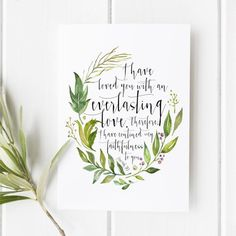 Jeremiah 31:3 I have loved you with and by SnowAndCompany on Etsy