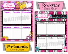 Customized Chore Charts from Darling Doodles