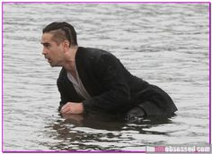 Looks like Colin Farrell had a bit of a soggy day on the set of his upcoming movie 'Winter's Tale'.