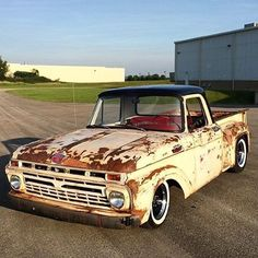 I really prefer this colour for this %%KEYWORD%% Vintage Pickup Trucks, Old Ford Trucks, Old Ford Pickups, Single Cab Trucks, F100 Truck, Hot Rod Pickup, Shop Truck, 1964 Ford, Retro Cars