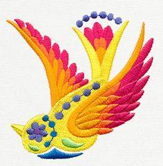 Folklorico - Little Pajaro design (UT8465) from UrbanThreads.com