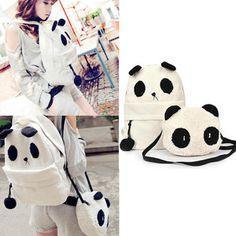 Women Cute Cartoon Panda Canvas Backpack + Free Little Baby Shoulder Bag Satchel Cartoon Panda, Cute Cartoon, Animal Backpacks, Bags For Teens, Canvas Backpack, Little Babies, Satchel, Snoopy, Shoulder Bag