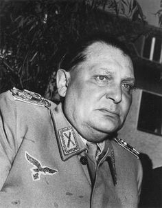 Arch war criminal - Herman Goering arrives at the place of detention in Augsburg on May 14, 1945.  Expecting to be treated like royalty he was eventually imprisoned in a  simple prison cell and escaped the noose by taking cyanide the day before his execution.